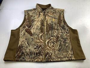 Browning Men's 2XL Vest Mossy Oak Camo Full Zip Hunting Game