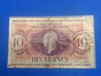 #9020# Billet de 10 francs du 1944 Caisse Centrale de la France d'Outre-Mer