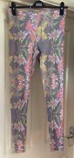 Topshop Distressed Floral Design Boho Leggings , Size 12 - Lovely!
