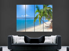 TROPICS BEACH PALM TREE  POSTER WALL ART PICTURE  LARGE GIANT