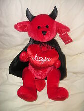 """I Love You 19"""" Red Devil Cape Gift Mail Special Person Valentine's  Any Day NWT"""