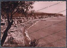 SAVONA ALBISSOLA 44 SPIAGGIA BAGNI Cartolina FOTOGRAFICA viaggiata 1962