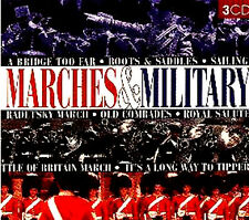 MARCHES & MILITARY NEW SEALED 3 CD BOX SET MARINES GUARDS RAF BAND Etc
