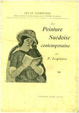 Livre  ancien la peinture suédoise P. Lespinasse Book