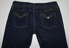 Serfontaine Women's Dk Blue Waysted Slim Straight Jeans, Size 29 X 34.5 EUC! USA