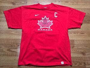Nike Canada Scott Niedermayer T-Shirt Mens XL Red Hockey Jersey Tee Captain #27
