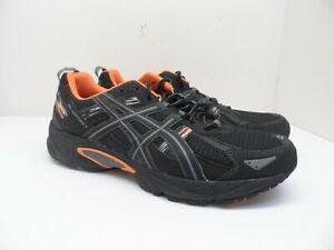 ASICS Men's Gel-Venture 5 Athletic Trail Shoes T5P0Q Black/Gray/Orange 12 4E