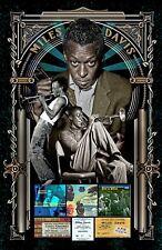 "Miles Davis -11x17"" Poster - Vivid Colors! (signed by artist)"