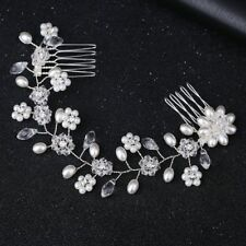 Elegant Crystal Pearl Flower Hair Comb Hairclip Hairband Bridal Wedding Jewelry