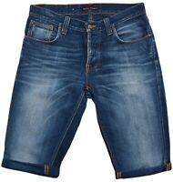 Nudie Jeans da Uomo Polsino Orlo Pantaloncini Taglio Corto W32 L34 Morte Tim