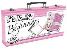 Sketching Drawing Pencil Color Kit Art Supplies Beginner Artist Storage Box Set
