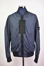 Men's Stone island Garment Dyed Crinkle Reps Bomber Jacket Petrol Blue Medium