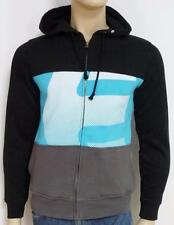 Etnies 3Sixty Colorblock Black Blue Gray Fleece Hoodie New NWT Mens Small