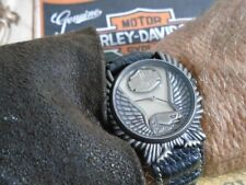 Harley Davidson Antigo Bulova Águia Americana Suíço Raro