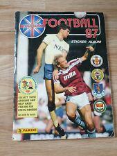 Panini Football 1987 Sticker Album Incomplete 187 missing