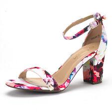 DREAM PAIRS CHUNK Women's Evening Dress Low Chunky Heel Wedding Pumps Sandals