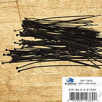 "100 pcs BLACK Cable Ties 12"" inch 40lbs, Fantastic Quality, Zip Ties, Nylon Ties"