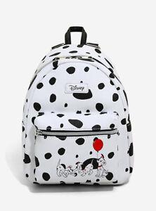 NEW Loungefly Disney 101 Dalmatians Mini Backpack Black White Spots