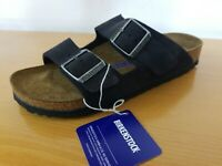 Birkenstock Arizona Soft Footbed Suede Leather Velvet Gray  - NEW - Size EU 41 N