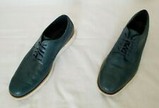 Mens Sz 9.5M Green Cole Haan Lunargrand Leather Wingtip Oxford Casual Shoes used