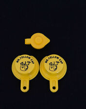 2X BLITZ Yellow Spout Cap for gas can spouts #900302 900092 900094 - FREE Vent!!