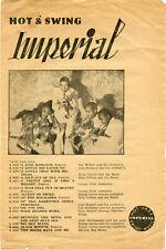 Imperial Tschechoslowakei Hot-Jazz & Swing Serie Sonderkatalog