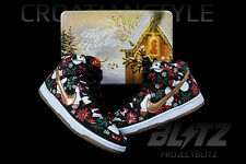 Nike CONCEPTS DUNK HIGH PREMIUM UGLY CHRISTMAS SWEATER Size 9.5 BLACK 635525-006