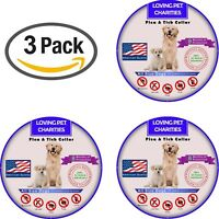 3 Pack Flea And Tick Collar For Dogs - 8 Months Protection - One Size Fits All