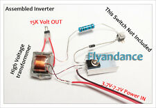 DIY Electronic Kit - 15kv High Voltage Ionizer inverter transformer temperture