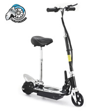 Pro Jr Kids Electric Scooter With Adjustable Seat Foldable Black 140W Ride On