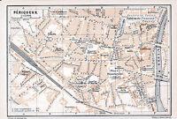 Périgueux 1912 pt. plan ville orig. + guide (5 p.) Arènes Tourny Cathédrale Isle