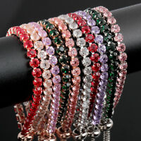 925 Silver Adjustable Tennis Bracelets Fashion Bracelet&Bangle Jewelry