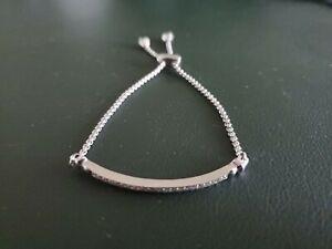 Kendra Scott Ott Adjustable Chain Bracelet with Cubic Zirconia / Silver