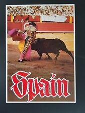 ORIGINAL 1960s SPAIN TRAVEL POSTER SPANISH BULLFIGHTER BULL VINTAGE 60s SPANIARD
