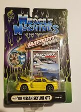 Muscle Machines Import Tuner Yellow '00 Nissan Skyline GT-R Die-cast 1:64 [P3]