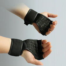 Pro Sport Training Fitness Gloves Weight Lifting Gym Workout Wrist Wrap Strap