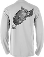 Microfiber Moisture Wicking Fishing Boating UPF Sun Protection Shirt Redfish