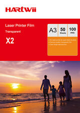 Overhead Projector Film OHP A3 Clear For Black White Laser & Copier 100 Sheets