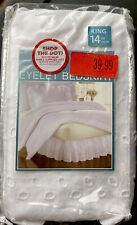 Smoothweave 14-Inch Ruffled Eyelet King Bed Skirt in White