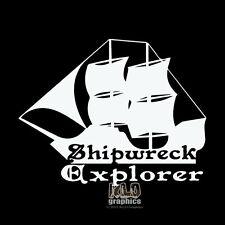 SHIPWRECK EXPLORER Decal Sticker Hunter Wreck Diving DIVER Car Truck Boat Window