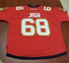 New Florida Panthers Authentic Red NHL Reebok Hockey Jersey Jagr #68 - Size M