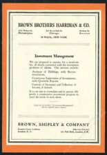 1931 Brown Brothers Harriman investment management theme vintage print ad 1