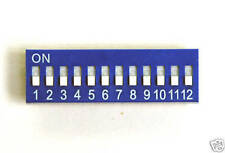 Switch Dip Switch 12 Positions Blue - Modelling