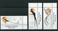 Namibia 2016 MNH Whydahs of Namibia 3v Set Birds Shaft-Tailed Whydah Stamps