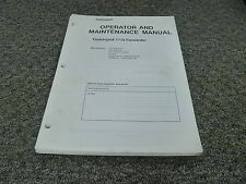 Timberjack 1710 Forwarder Logging Owner Operator Maintenance Manual 17100090-Up