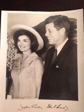 Rare White House Photo of President John Kennedy & Jacqueline Kennedy Facsimile