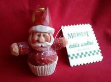Eddie Walker Santa Cupcake Bon Bon Ornament Midwest of Cannon Falls Nwt