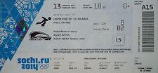 mint TICKET 13.2.2014 Olympic Sotschi Sochi Eisschnelllauf Speed Skating A15
