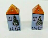 VTG Ceramic House Salt & Pepper Set