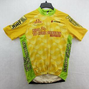 Hincapie Cycling Race Jersey Men's Size 2XL Yellow Ride to Cure 3 Bottle Pocket